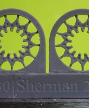 1/72 Sprockets for M4 family, HVSS D47366A, casting